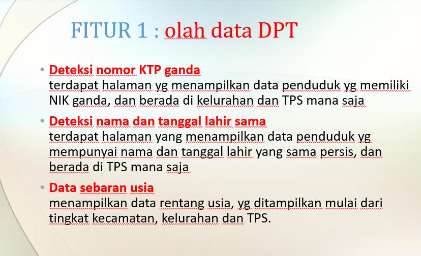 olah data DPT