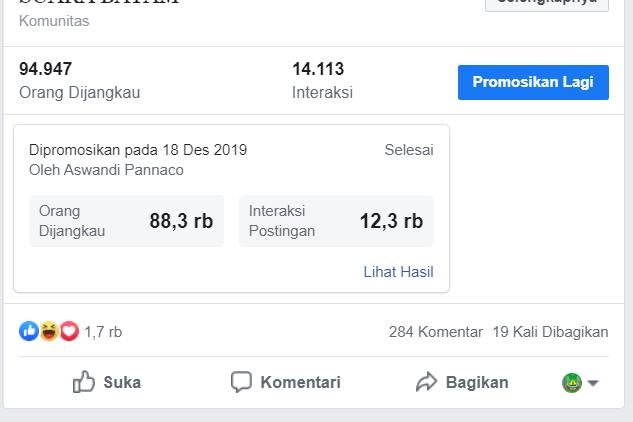tangkapan layar iklan di facebook