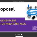 Implementasi Teknologi Informasi untuk Kabupaten Kecil